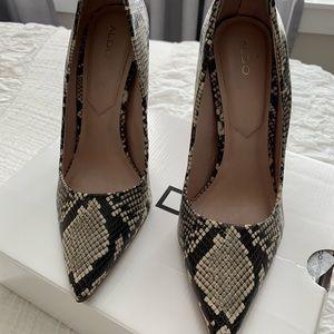 """Aldo Shoes - ALDO """"Cassedy"""" Heel in Snakeskin"""